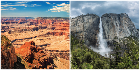 Grand Canyon and Yosemite