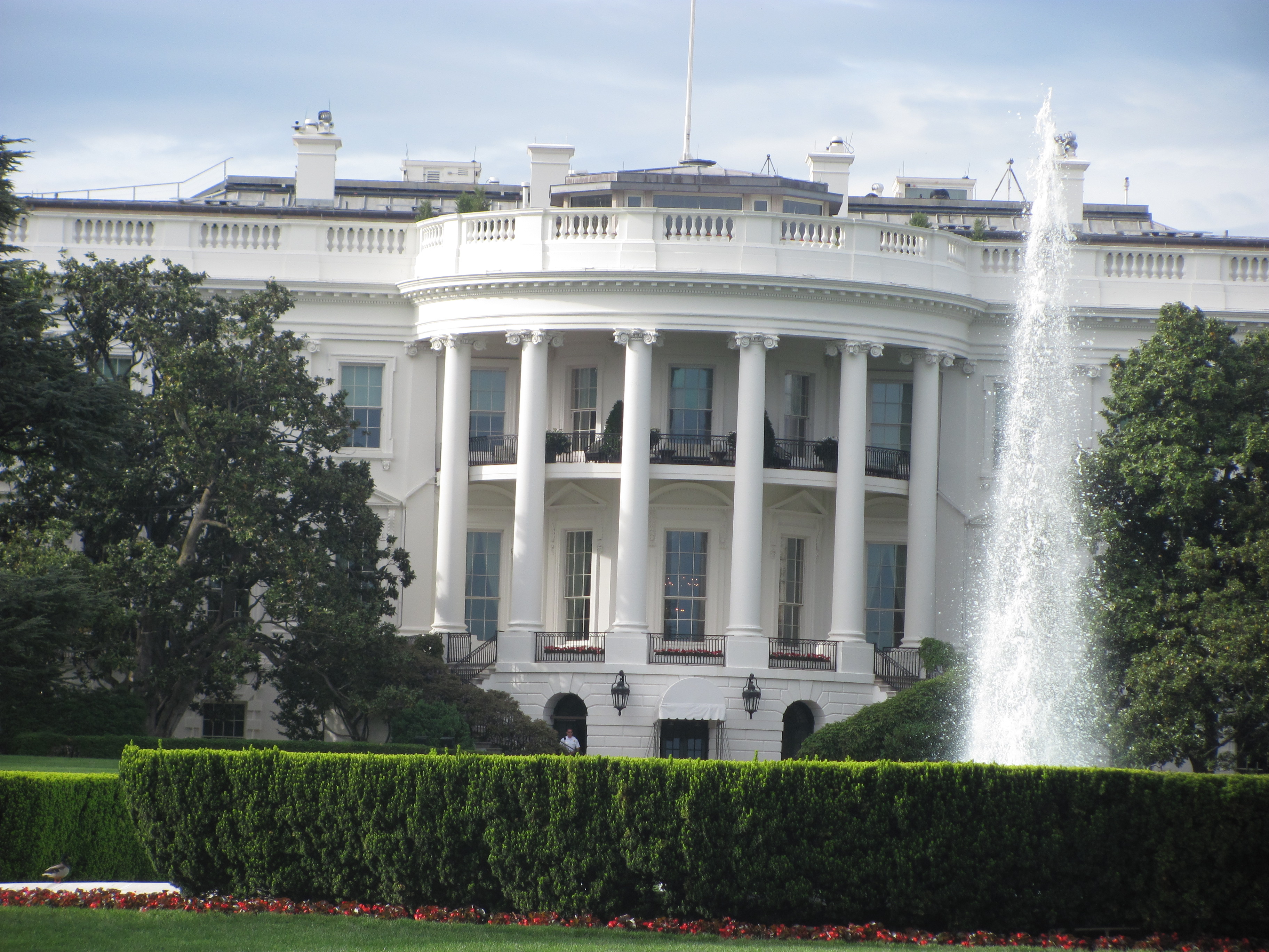 Closest view of White House