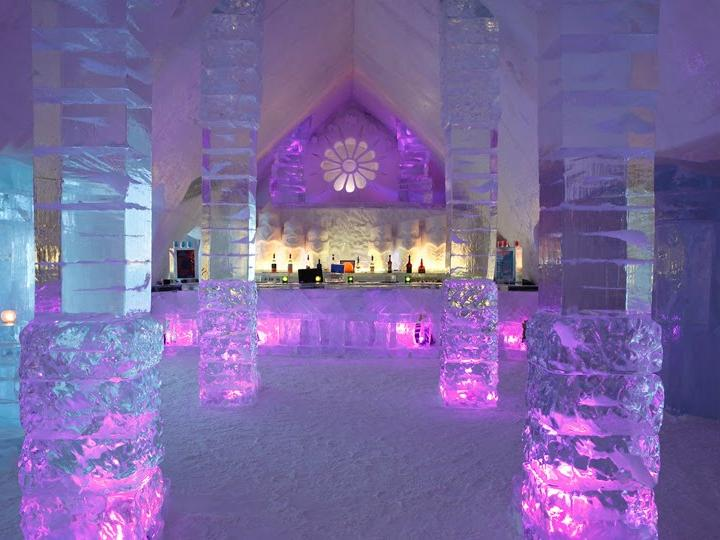 Quebec winter carnival ice hotel