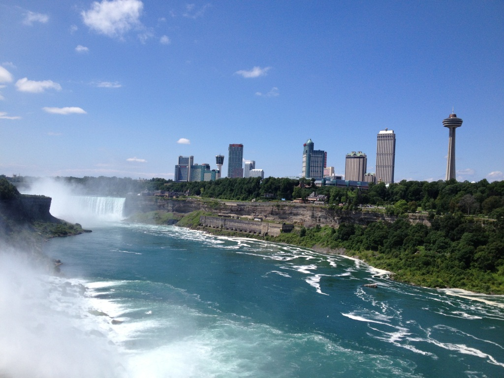 Niagara Falls and Canadian side
