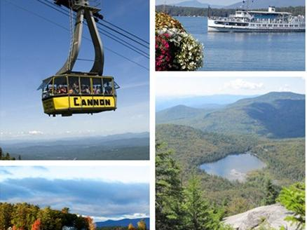 1-Day Lake Winnipesaukee and Cannon Mountain Romantic Foliage Tour from Boston