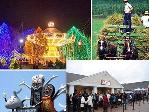2-Day Woodbury Outlets, Amish Village and Hershey Chocolate World Tour from Boston