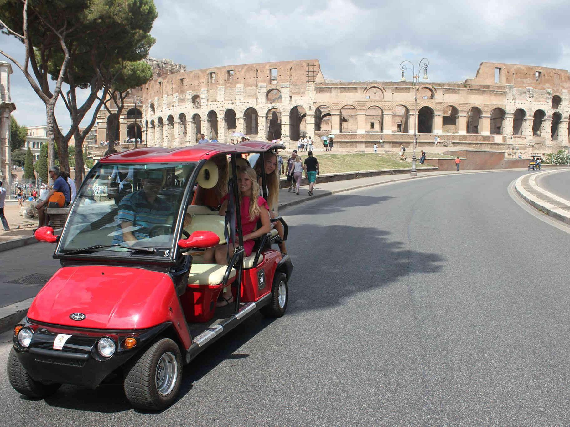 3-hour Rome By Golf-Cart Tour