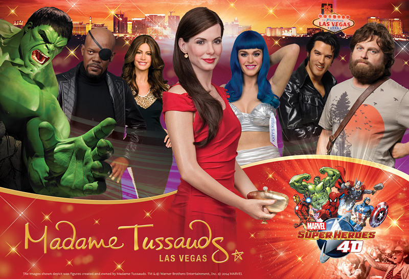 Madame Tussauds Las Vegas is the only place with no velvet ropes or barriers holding you back from getting photos with your favorite stars! Located on the Las Vegas Strip, under the Venetian Bell Tower, Madame Tussauds invites you to pose with countless figures of internationally renowned musicians, A-list celebrities, sports legends, world 4/4().