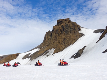 4-Day Blue Lagoon, Golden Circle, Snowmobiling and Northern Lights Winter Adventure Tour from Reykjavik