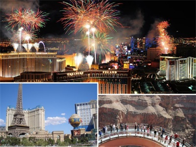 3-Day 2018 New Year's Countdown, Las Vegas and West Grand Canyon Tour from Los Angeles/Las Vegas