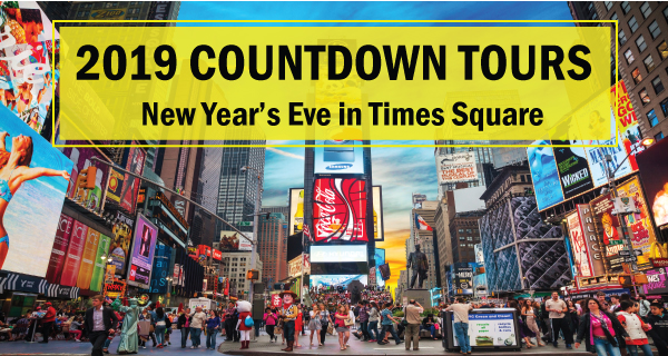 2019 Countdown Tours in Times Square from Boston
