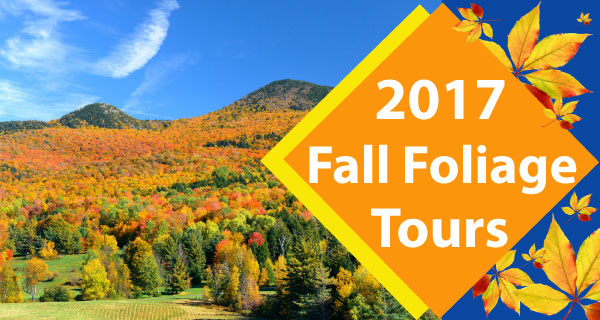 Fall Foliage Tours 2017 - Book Early!