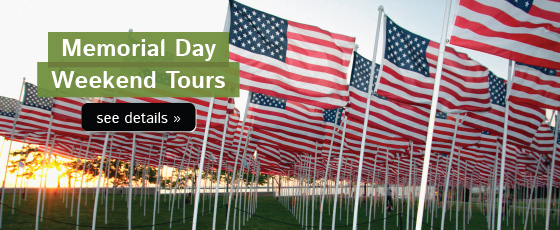 Tours for Memorial Day Weekend!