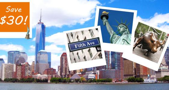 1 Day New York City Tour - $10 Only!