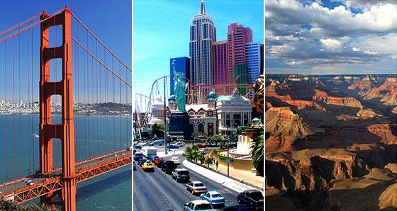 West Coast Vacation Packages from Los Angeles