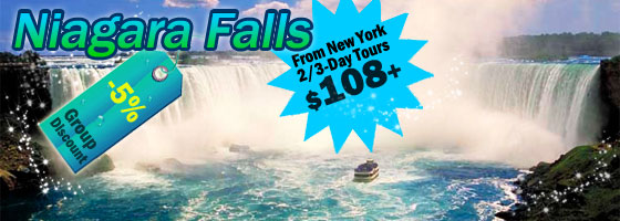 New York to Niagara Falls 2/3-Day Tours
